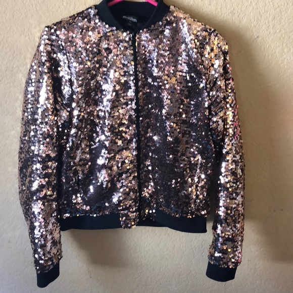 defe9f542 Sequined jacket